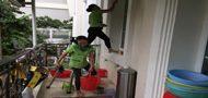 dịch vụ vệ sinh công nghiệp sau xây dựng tại long an